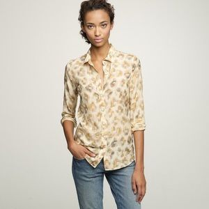 J.Crew Bronzed Leopard Perfect Shirt